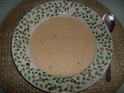 Mrkvová polévka s bramborem