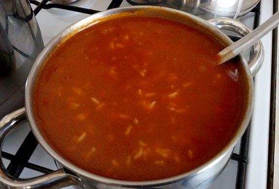 Rajská polévka se špeclemi