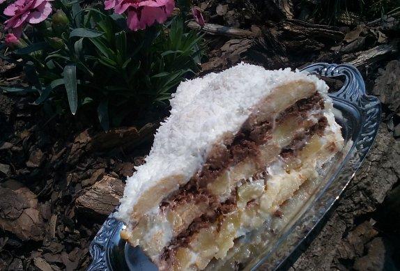 Kokosový nepečený dort photo-0