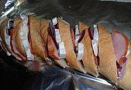 Hermelínová bageta  - zapečená