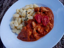 Kuře v rajčatové omáčce