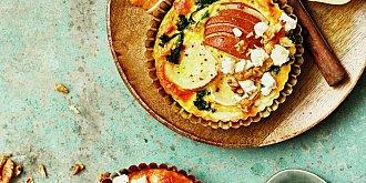 Mini quiche s hruškami a kozím sýrem