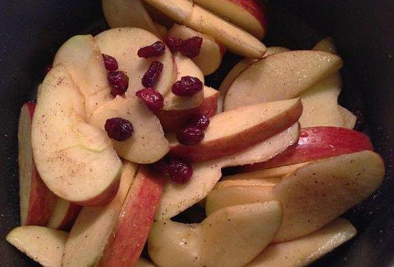 Pečená jablka na javorovém sirupu