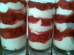 Jahodovo - vanilkový tvaroh