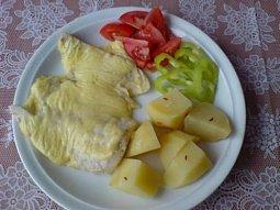 Rybí file zapečené se sýrem a vejci
