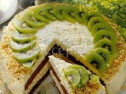 Kokosový dort s vaječným koňakem