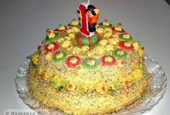 Dětský dvoupatrový dort