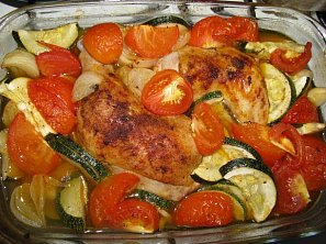 Kuře v zelenině