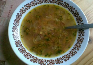 Rychlá uzeninová polévka s rýží
