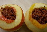 Jablka s perníkovým srdcem - pečená