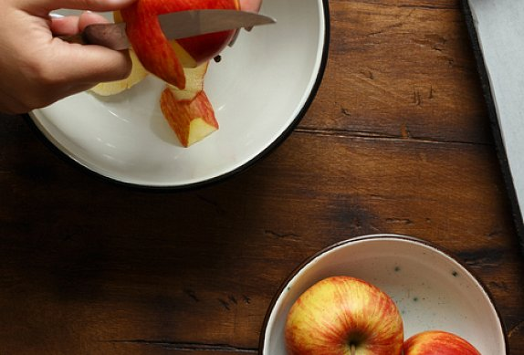 Pórková polévka s fenyklem a jablkem