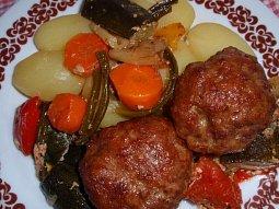 Masové koule na zelenině