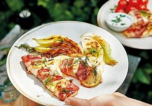 Grilovaný losos ve slanině