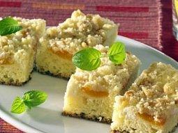 Tvarohový koláč s příchutí meruněk