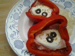 Dušené plněné papriky