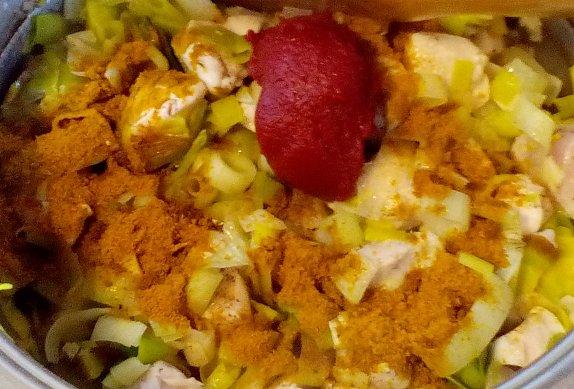 Pikantní kuře s pórkem