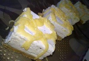 Citronové cheesecake řezy s vanilkou