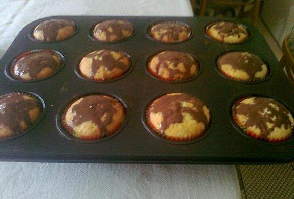Muffiny s tvarohem a ovocným želé photo-0