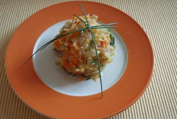Šťouchané brambůrky s cuketou a mrkví