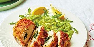 Kyjevský řízek s brokolicovou kaší