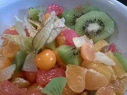 Citrusový salát s physalis