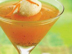 Mandarinkové želé se zmrzlinou
