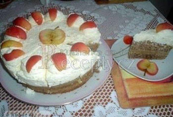 Tvarohový dort s jablky photo-0