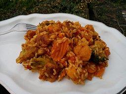 Kuřecí kari se zeleninou a rýží