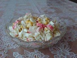 Krabí salát s rýží