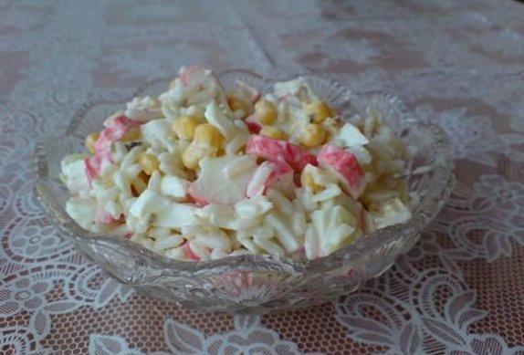 Krabí salát s rýží photo-0