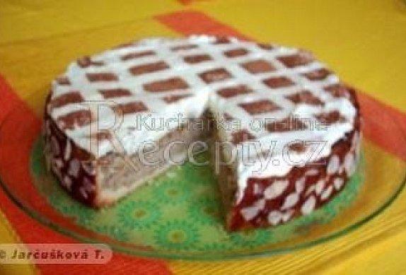 Jablkový dort s kakaovou mřížkou