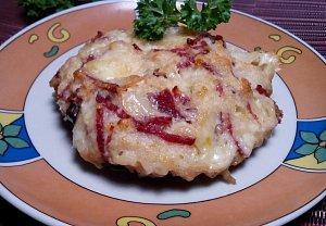 Portobello s Raclette sýrem