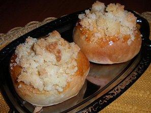 Jablečné vdolečky - kynuté, pečené