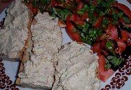 Jednoduchá pomazánka z uzené makrely