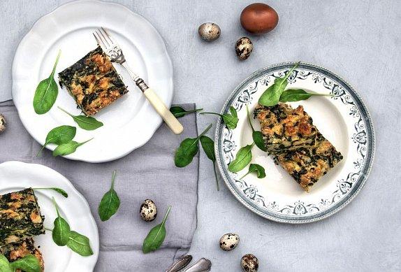Špenátová velikonoční nádivka bez masa