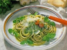 Špagety s bazalkou