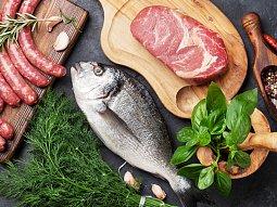 Maso & ryby & mořské plody