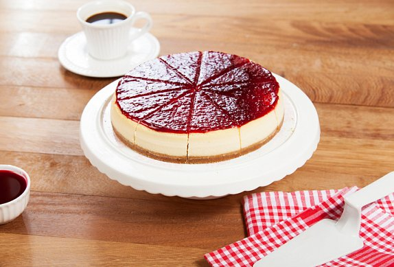 Malinový cheesecake s mandlemi