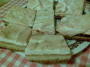 Sněhový koláč s marmeládou