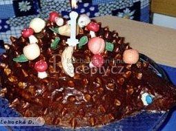 Dětský dort - ježek