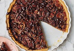 Pekanový koláč s bourbonem a čokoládou