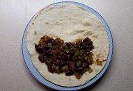 Tortilly s fazolovou směsí