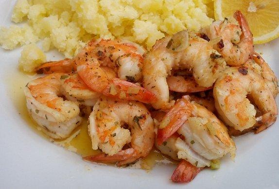 Kořeněné krevety smažené na másle photo-0