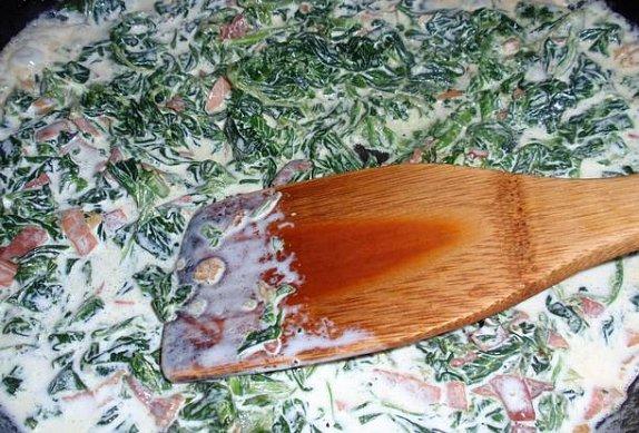 Šunkové kapsy se špenátem