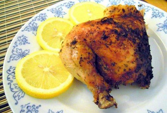 Kuře na soli s citrónem