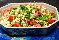 Zeleninový salát s klíčky