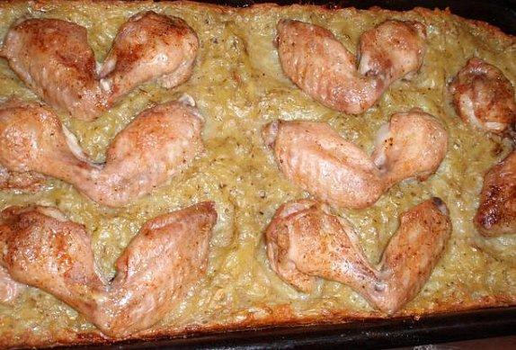Kuře pečené na bramboráku