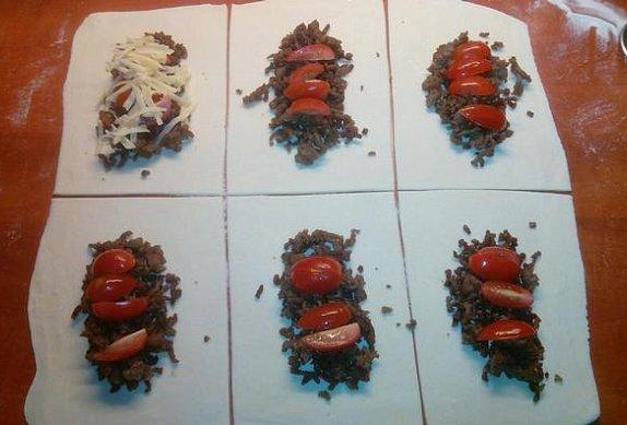 Plněné taštičky z listového těsta