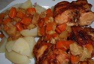 Králík na zelenině s tandoori kořením