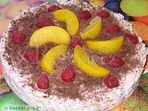 Nepečený tvarohový dort s ovocem